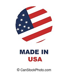 Made in Usa sign on white background