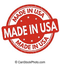 Made in USA sign or stamp