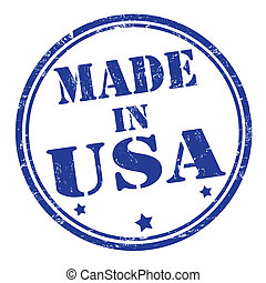 Made in USA grunge rubber stamp, vector illustration
