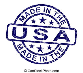 Made In Usa Stamp Shows Product Or Produce Of America - Made...