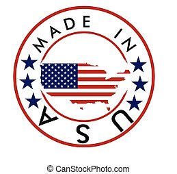 Made in USA stamp. vector