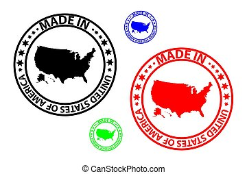 Made in USA stamp - vector