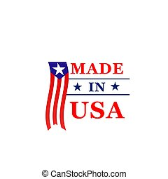 Made in USA vector icon of America flag