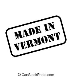 Made In Vermont Stamp Vector