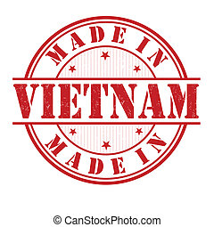 Made in Vietnam stamp - Made in Vietnam grunge rubber stamp ...