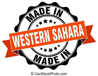 made in Western Sahara round seal