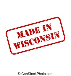Made in Wisconsin Stamp Vector