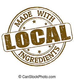 Made with local ingredients stamp