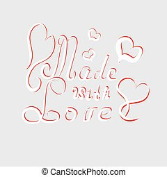 Made with love handmade letters