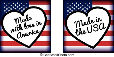 made with love in.. USA or america