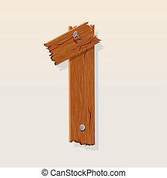 madeira, 1, número