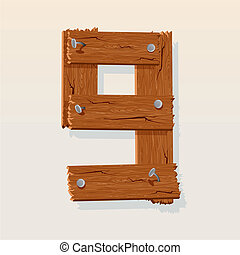 madeira, 9, número