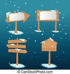 madeira aborda, neve, natal, painél publicitário