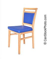 madeira, acolchoado, cadeira