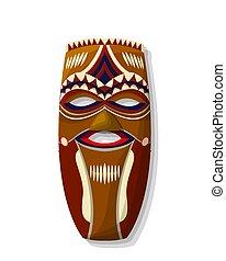 madeira, africano, máscara