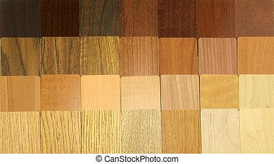 madeira, amostras