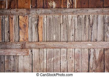 madeira, antigas, fundo, celeiro