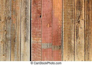 madeira, antigas, lavado, parede, saída