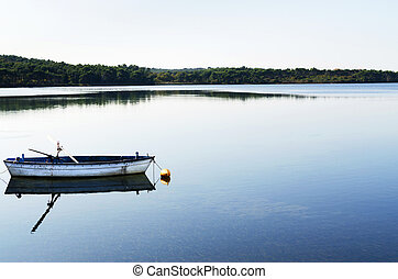 madeira, antigas, pôr do sol, bote