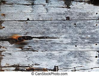 madeira, antigas, placas, chão
