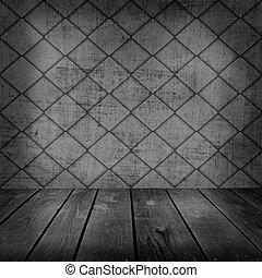 madeira, antigas, sala, chão