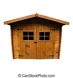madeira, barraca jardim, (isolated)