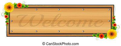 madeira, bem-vindo, signage