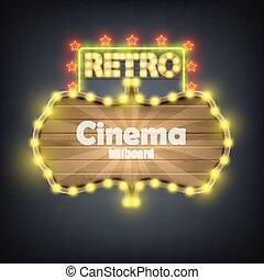 madeira, billboard, cinema, retro, banner.
