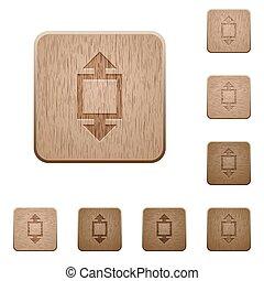 madeira, botões, ferramenta, altura