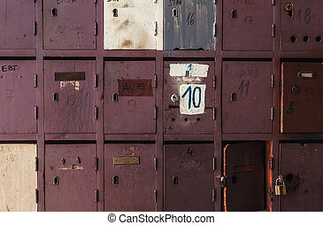 madeira, caixas, postal, antigas
