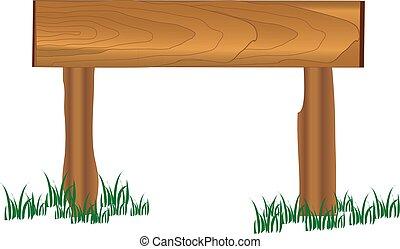 madeira, capim, tábua
