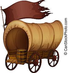 madeira, carruagem