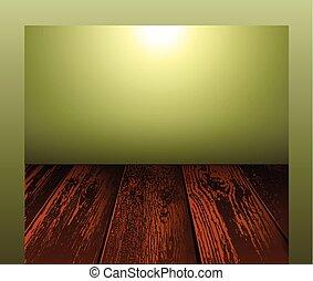 madeira, cena, fundo, chão