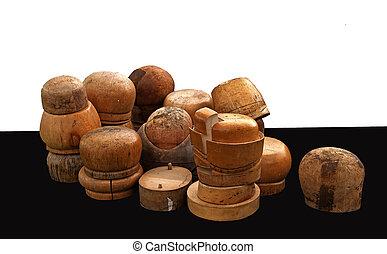 madeira, chapéu, block's, variedade