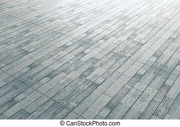 madeira, cinzento, pavimentando