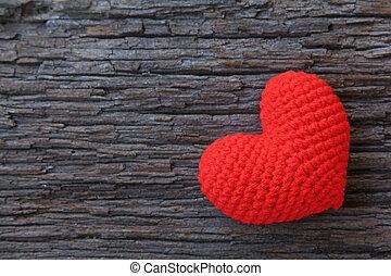 madeira, Coração, Amor, fundo