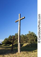 madeira, cruzes, religião