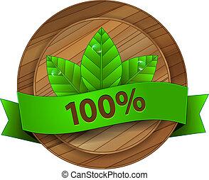 madeira, ecologia, vetorial, emblema