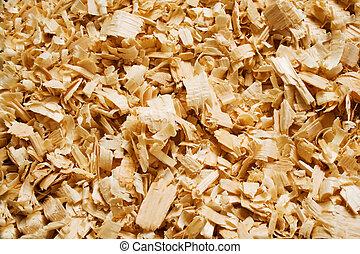 madeira em estilhas