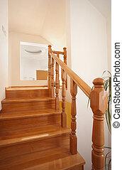 madeira, escadas