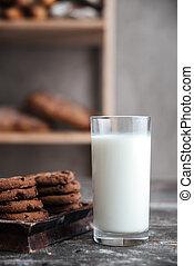 madeira, escuro, biscoitos, leite, tabela