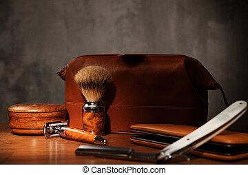 madeira, experiência., raspar, acessórios, luxo