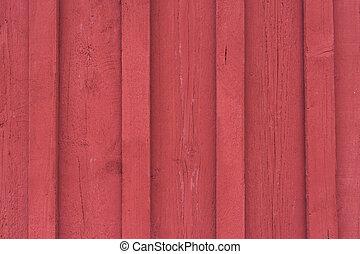 madeira, fachada, vermelho