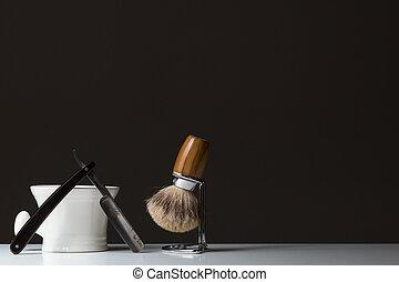 madeira, ferramenta, experiência escura, tabela, raspar