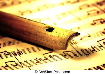 madeira, flauta