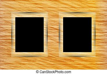 madeira, foto, abstratos, dois, fundo, bordas