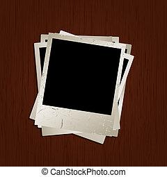 madeira, fotografias, fundo, em branco