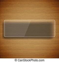 madeira, fundo, com, vidro, quadro