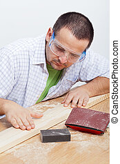 madeira, furbishing, planck, homem