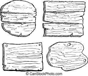 madeira, grunge, prancha